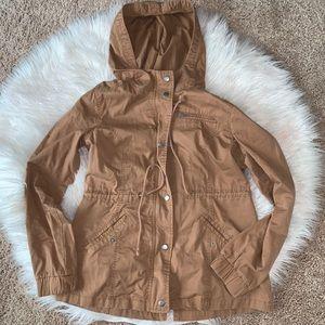 Brown Khaki Utility Fall Jacket Size Large
